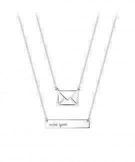 Coquine Twin Envelope Mensagem Joia Colar Mulher 022.E0003
