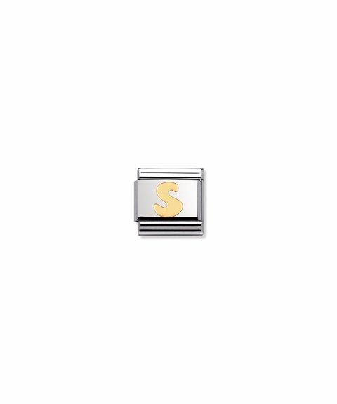 Nomination Composable Classic Letter S Joia Acessório de Joia Link 030101/19