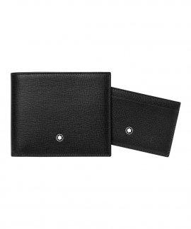 Montblanc Leather Gift Set Carteira Porta-Cartões Visita Homem 116841