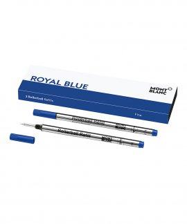 Montblanc Royal Blue Rollerball F Recargas Caneta 124501