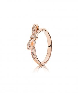 Pandora Rose Sparkling Bow Joia Anel Mulher 180906CZ
