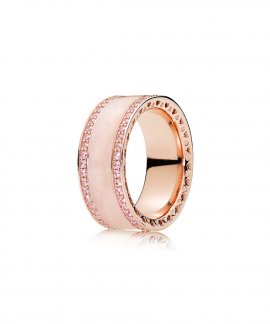 Pandora Rose Pink Hearts Joia Anel Mulher 181024EN95