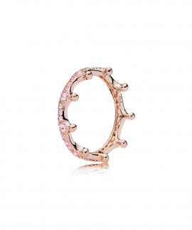 14ba82f48 Pandora Rose Enchanted Crown Joia Anel Mulher 187087NPO