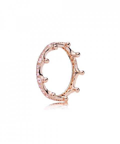 Pandora Rose Enchanted Crown Joia Anel Mulher 187087NPO