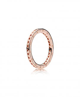 Pandora Rose Signature Hearts Joia Anel Mulher 187133