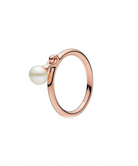 Pandora Rose Contemporary Pearls Joia Anel Mulher 187525P