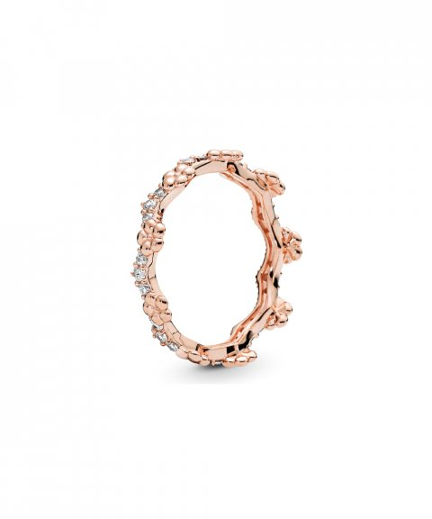 Pandora Rose Flower Crown Joia Anel Mulher 187924CZ