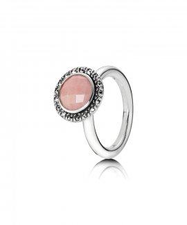 Pandora Pink Opal Joia Anel Mulher 190617POP