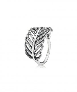 Pandora Feather Joia Anel Mulher 190886CZ