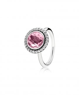 Pandora Statement Sparkling Pink Joia Anel Mulher 190904PCZ