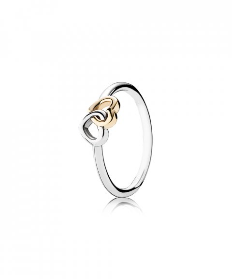 Pandora Entwined Hearts Joia Anel Mulher 190927