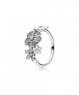 Pandora Shimmering Bouquet Joia Anel Mulher 190984CZ
