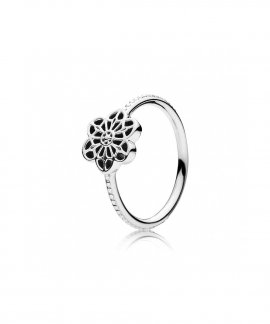 Pandora Floral Daisy Lace Joia Anel Mulher 190992