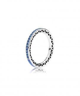 Pandora Radiant Hearts Royal Blue Joia Anel Mulher 191011NCB