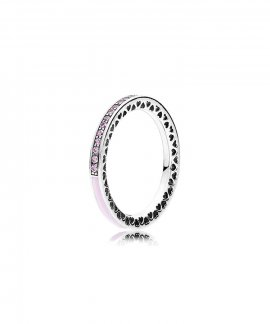 Pandora Radiant Hearts Pink Joia Anel Mulher 191011PCZ