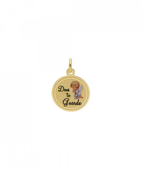 DonaZinda Deus te Guarde Joia Pendente Colar Medalha Ouro 19.2K 194BE034DGUARDE