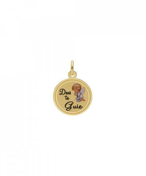 DonaZinda Deus Te Guie Joia Pendente Colar Medalha Ouro 19.2K 194BE034DGUIE