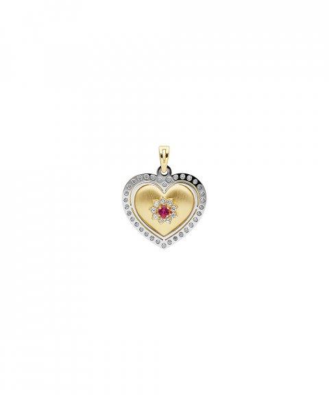 DonaZinda Coração Vermelho Joia Pendente Colar Mulher Ouro 19.2K 194BE130BV