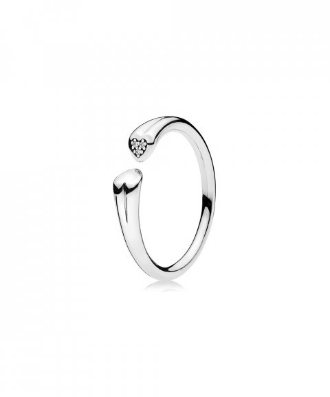 Pandora Two Hearts Joia Anel Mulher 196572CZ