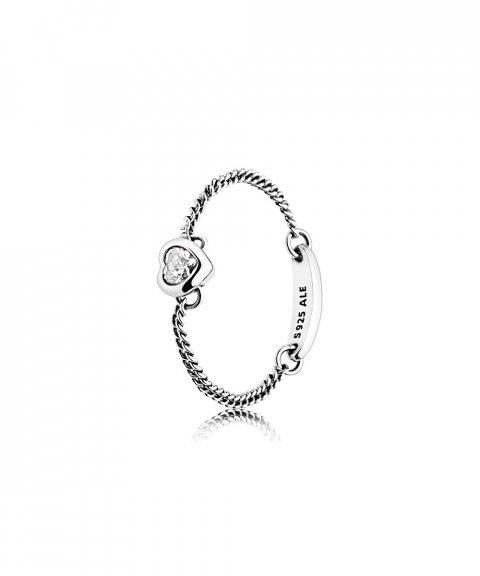 Pandora Spirited Heart Chain Joia Anel Mulher 197191CZ