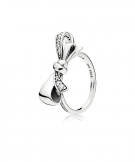 Pandora Brilliant Bow Joia Anel Mulher 197232CZ