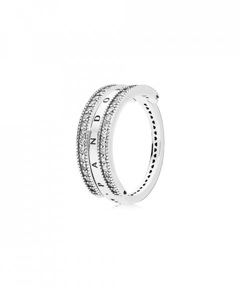 Pandora Flipping Hearts Joia Anel Mulher 197404CZ
