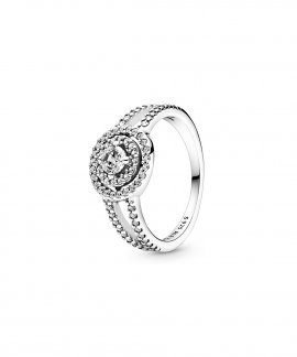 Pandora Sparkling Double Halo Joia Anel Mulher 199408C01