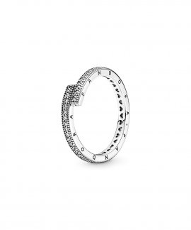 Pandora Sparkling Overlapping Joia Anel Mulher 199491C01