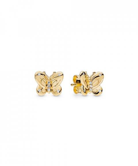 Pandora Shine Decorative Butterflies Joia Brincos Mulher 267921CZ