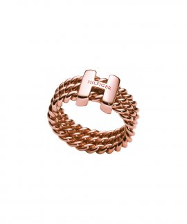 Tommy Hilfiger Rope H Joia Anel Mulher Classic Signature 2700482