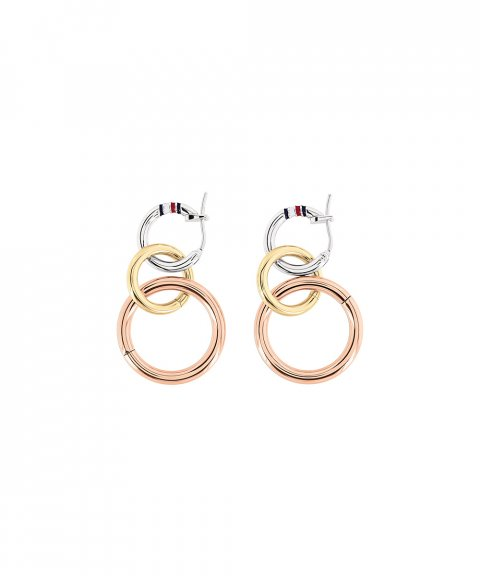 Tommy Hilfiger Tri-Color Circle Joia Brincos Mulher 2701090
