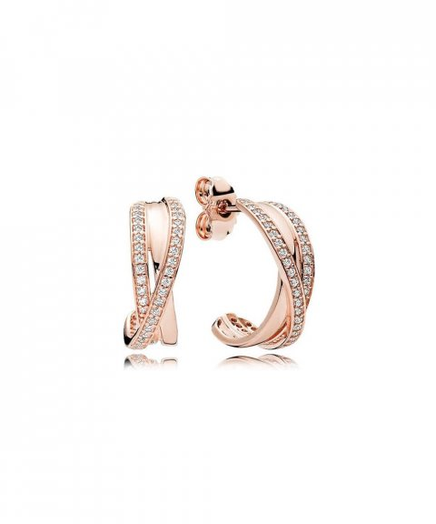 Pandora Rose Entwined Joia Brincos Mulher 280730CZ