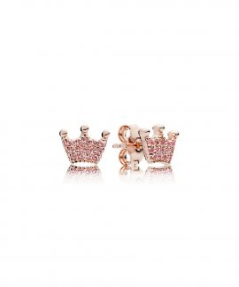 Pandora Rose Enchanted Crowns Joia Brincos Mulher 287127NPO