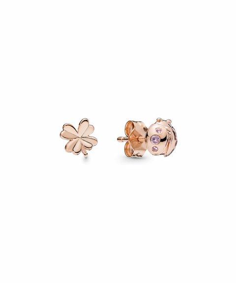 Pandora Rose Four-Leaf Clover and Ladybird Joia Brincos Mulher 287960NPO