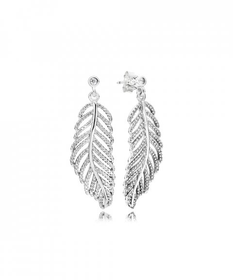 Pandora Shimmering Feathers Joia Brincos Mulher 290584CZ