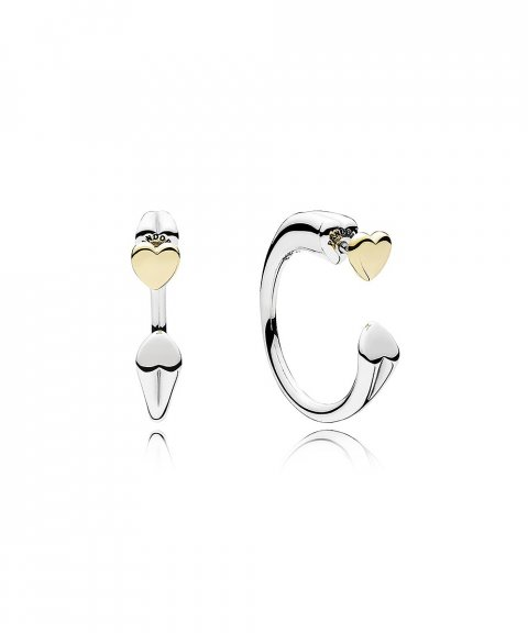 Pandora Two Hearts Joia Brincos Mulher 296576