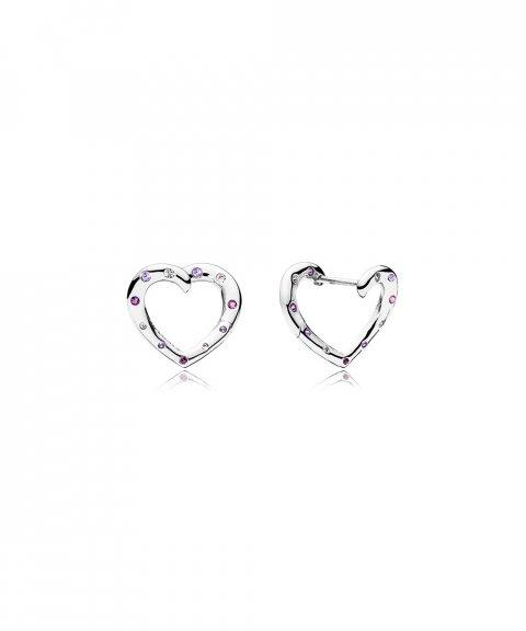 Pandora Bright Hearts Joia Brincos Mulher 297231NRPMX