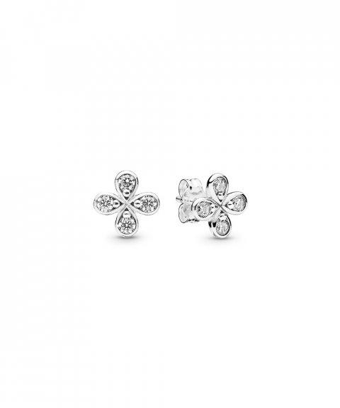 Pandora Four-Petal Flowers Joia Brincos Mulher 297968CZ