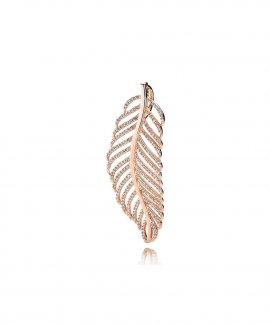 Pandora Rose Shimmering Feather Joia Pendente Colar Mulher 380350CZ