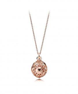 Pandora Rose Harmonious Hearts Joia Colar Mulher 387299-90