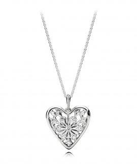 Pandora Heart of Winter Joia Colar Mulher 396369CZ-80