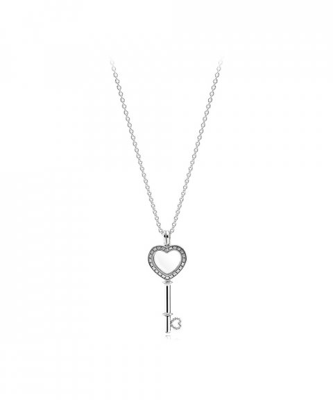 Pandora Heart Key Locket Joia Colar Mulher 396581CZ-80