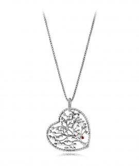 Pandora Tree of Love Joia Colar Mulher 396582ENMX-75