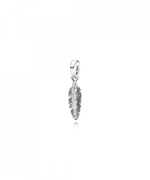 Pandora Spiritual Feather Joia Conta Pendente Colar Mulher 397216