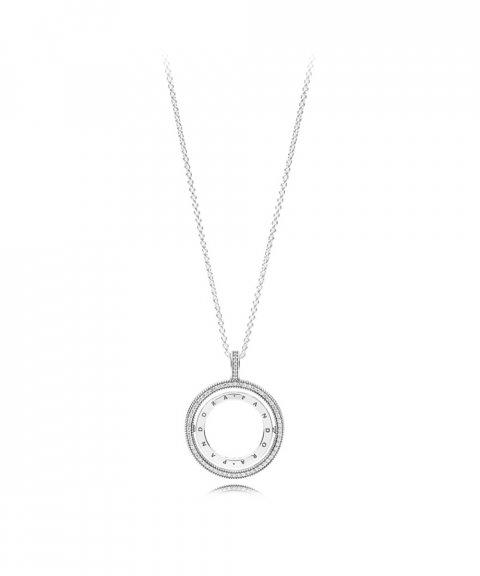 Pandora Signature Logo Spinning Joia Colar Mulher 397410CZ-60