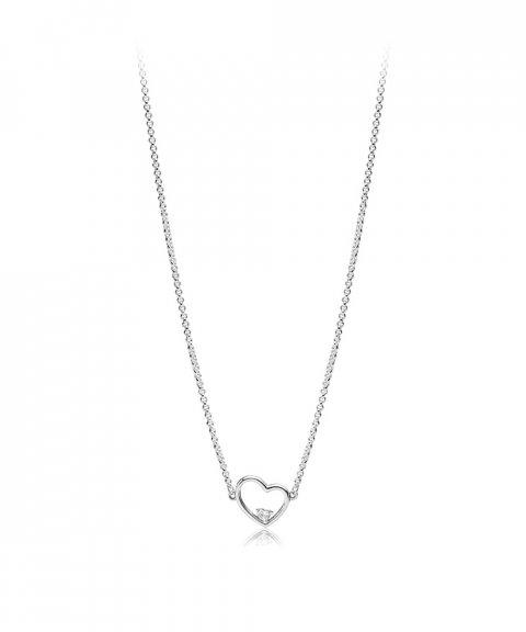 Pandora Asymmetric Hearts of Love Joia Colar Mulher 397797CZ-45