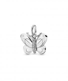 Pandora Decorative Butterfly Joia Conta Pendente Colar Mulher 397933CZ
