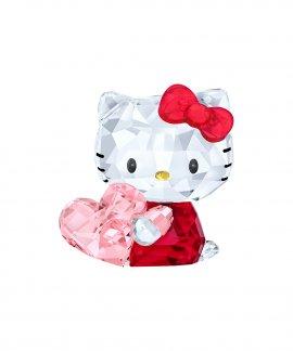 Swarovski Hello Kitty Pink Heart Figura de Cristal 5135886