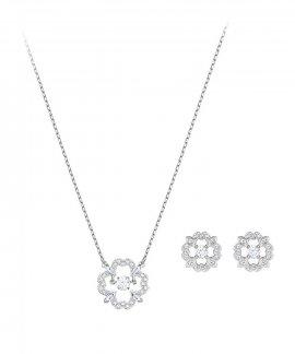 Swarovski Sparkling Flower Set Joia Colar Brincos Mulher 5397867