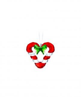 Swarovski Candy Cane Heart Decoração Figura de Cristal Adorno 5403314